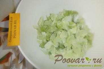 Фруктово овощной салат с крабовыми палочками Шаг 2 (картинка)