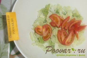 Фруктово овощной салат с крабовыми палочками Шаг 4 (картинка)