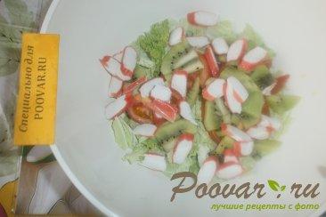 Фруктово овощной салат с крабовыми палочками Шаг 9 (картинка)