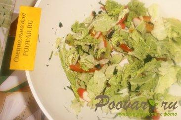 Фруктово овощной салат с крабовыми палочками Шаг 11 (картинка)