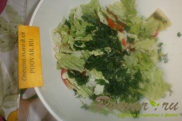 Фруктово овощной салат с крабовыми палочками Шаг 10 (картинка)
