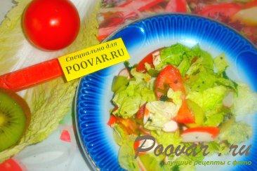 Фруктово овощной салат с крабовыми палочками Шаг 12 (картинка)