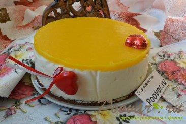 Легкий чизкейк без выпечки с манго Изображение