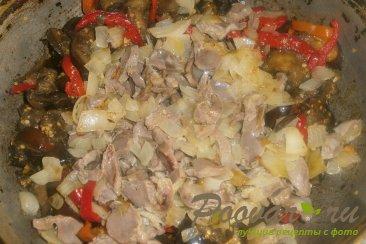 Баклажаны с куриными желудками Шаг 15 (картинка)