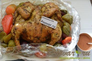 Целая курица в духовке с овощами Шаг 8 (картинка)
