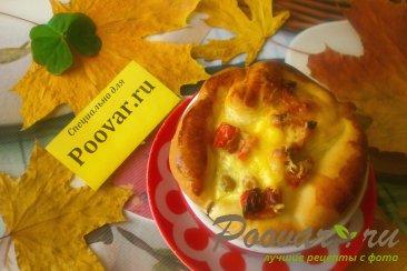 Киш с сыром и зелёным горошком Изображение