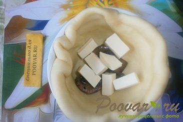 Киш с сыром и зелёным горошком Шаг 12 (картинка)