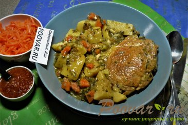 Тушеная картошка с мясом в мультиварке Шаг 14 (картинка)