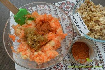 Заливной пирог с картофелем и мясом Шаг 7 (картинка)