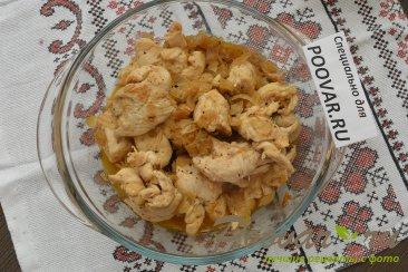 Заливной пирог с картофелем и мясом Шаг 6 (картинка)