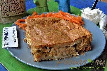 Заливной пирог с картофелем и мясом Шаг 19 (картинка)