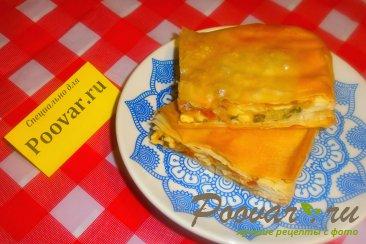 Пирог из теста фило с сыром и помидорами Шаг 17 (картинка)