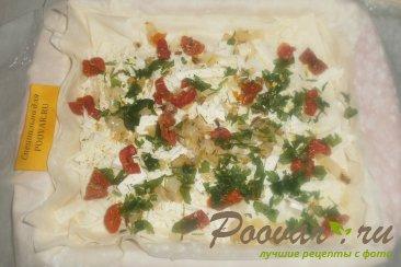 Пирог из теста фило с сыром и помидорами Шаг 13 (картинка)