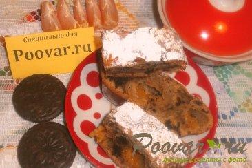 Кофейный пирог с шоколадным печеньем и мандаринами Изображение