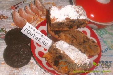Кофейный пирог с шоколадным печеньем и мандаринами Шаг 19 (картинка)
