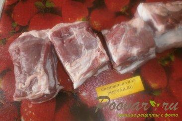 Свиная грудинка с чесноком и помидорами в духовке Шаг 2 (картинка)
