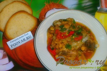 Тушёная курица с овощами и томатом Шаг 17 (картинка)