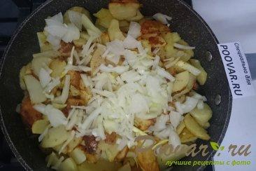 Тушёная капуста с картошкой и колбасой Шаг 9 (картинка)