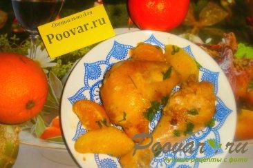 Курица с мандаринами и апельсинами Изображение