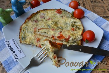 Омлет с помидорами и сыром в мультиварке Изображение