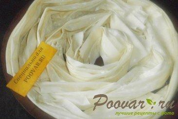 Баница с твёрдым сыром из теста фило Шаг 10 (картинка)
