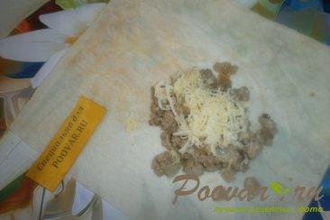 Лаваш с фаршем и сыром Шаг 8 (картинка)