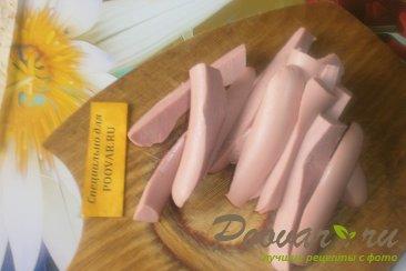 Трубочки из лаваша с колбасой и сыром моцарелла Шаг 3 (картинка)