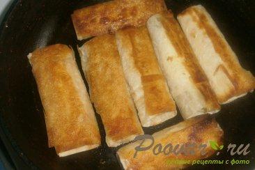 Трубочки из лаваша с колбасой и сыром моцарелла Шаг 9 (картинка)