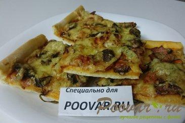 Пицца с руколой, грибами и сыром Шаг 14 (картинка)