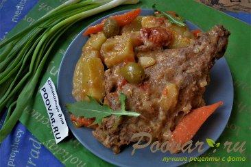 Кролик с овощами в духовке Изображение
