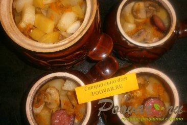 Жаркое с картофелем и грибами в духовке Шаг 18 (картинка)