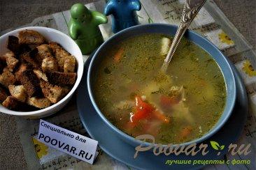 Суп с курицей и картофелем Изображение
