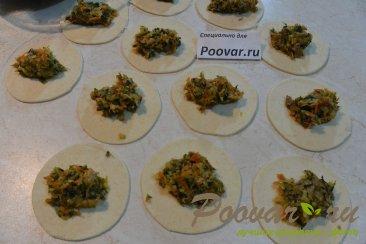 Пирожки с мясом, картофелем и шпинатом Шаг 11 (картинка)