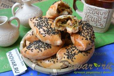 Пирожки с мясом, картофелем и шпинатом Изображение