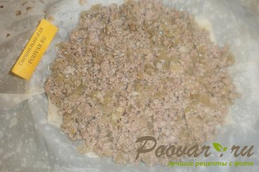 Мясной пирог из лаваша Шаг 10 (картинка)
