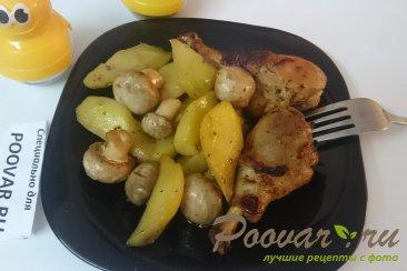 Картофель с курицей и грибами запеченный в духовке Изображение