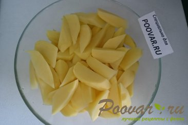Картофель с курицей и грибами запеченный в духовке Шаг 3 (картинка)