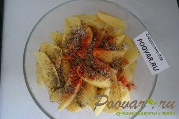 Картофель с курицей и грибами запеченный в духовке Шаг 4 (картинка)