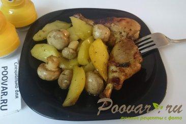 Картофель с курицей и грибами запеченный в духовке Шаг 13 (картинка)
