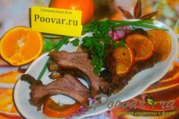Свиные рёбрышки с апельсином в духовке в рукаве Изображение