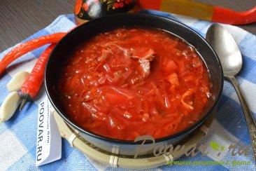 Красный борщ с курицей и капустой Шаг 15 (картинка)