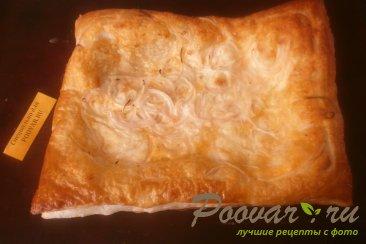 Сырный пирог с луком из слоёного теста Шаг 13 (картинка)