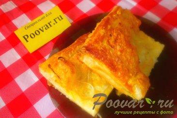 Сырный пирог с луком из слоёного теста Шаг 15 (картинка)