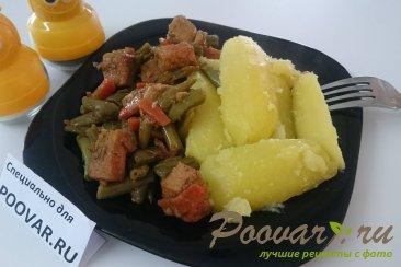 Свинина с картофелем и стручковой фасолью Изображение