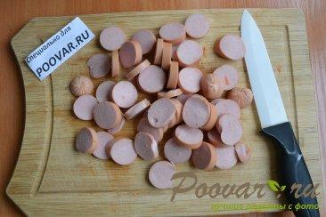 Тушеная картошка с сосисками в мультиварке Шаг 6 (картинка)