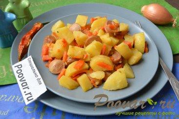 Тушеная картошка с сосисками в мультиварке Шаг 12 (картинка)