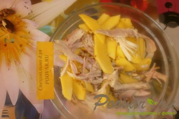 Салат из манго и курицы Шаг 8 (картинка)