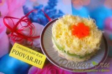 Салат из сыра и огурцов Изображение