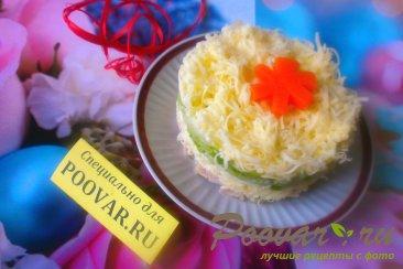 Салат из сыра и огурцов Шаг 12 (картинка)