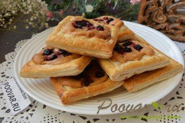 Слойки со сливочным кремом и ягодами Шаг 13 (картинка)